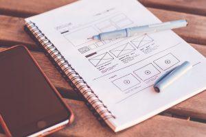 web design drawing plan
