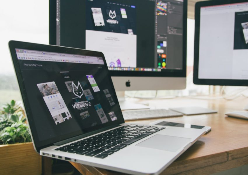 laptop desktop apple web design development