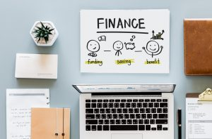 finance planning laptop